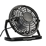 VESNIBA Notebook Laptop Computer Portable Super Mute PC USB Cooler Desk Mini Fan NEW 150 x 90 x 130mm (Black)