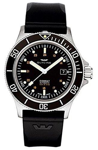 Glycine Reloj Analógico para Hombre de Automático con Correa en Caucho GL0087: Amazon.es: Relojes