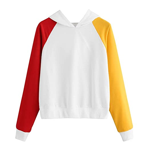 a395c8bd425 Staron Clearance Women's Sweatshirts Color Block Long Sleeve Hoodies Tops  Blouse