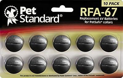 PetStandard Replacement Batteries for PetSafe RFA-67 (Pack of 10) by PetStandard