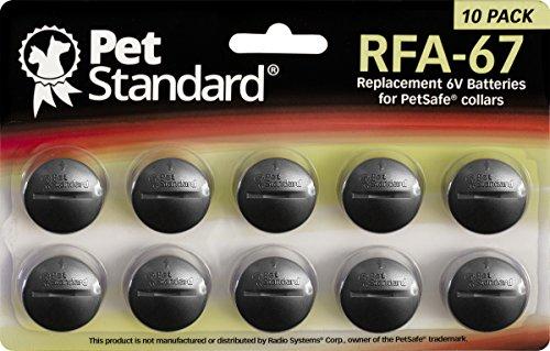 Piles Compatible PetSafe RFA-67 (Lot de 10)