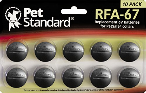 PetStandard Replacement Batteries for PetSafe RFA-67 (Pack of 10) by PetStandard