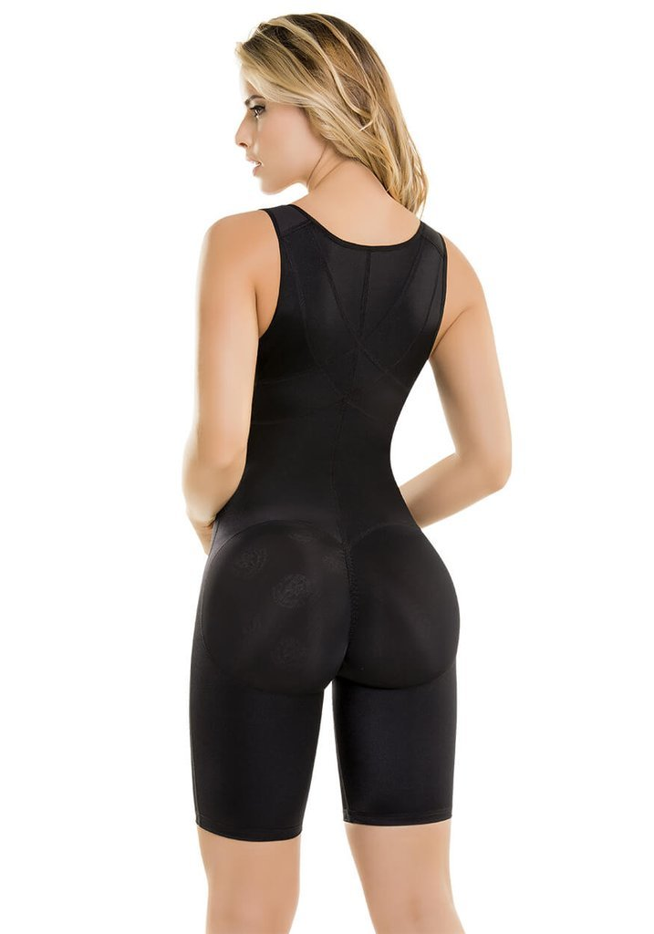 Fajas Colombianas CYSM Enterizo Extra Soporte Ultra Flexible/Extra Support Ultra Flex Slimming Bodysuit Ref 609 (BLACK, L) by Made In Colombia (Image #2)