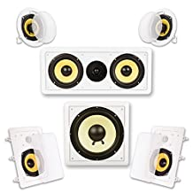 Acoustic Audio HD515 5.1 Home Theater Speaker System (White)