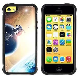 All-Round híbrido Heavy Duty de goma duro caso cubierta protectora Accesorio Generación-II BY RAYDREAMMM - Apple iPhone 5C - Asteroids Planet Alien World Universe Sun
