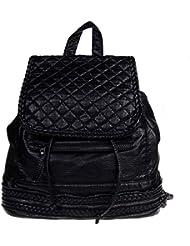 Women Soft PU Leather Backpack Travel Shoulder Bag Handbags for College Black