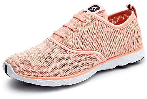 Dreamcity Womens Water Shoes Athletic Sport Lightweight Walking Shoes Pinkorange