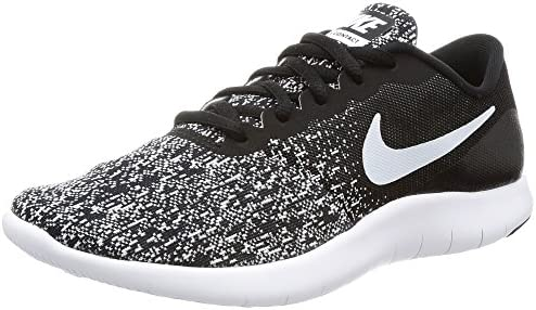 Nike Women s Flex Contact Running Shoes 6.5 Black White