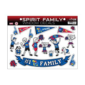 NCAA Kansas Jayhawks Spirit Family Window Decals