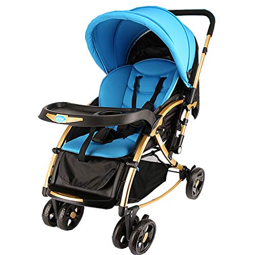 $249.42 Target Infant Car Seats Baby Stroller Lightweight Stroller Buggy, Aluminum Pram Foldable Travel Buggy with Reclinable Backseat Easy One Hand Fold Compact Airplane Stroller, Blue (0-36 Months) 2019