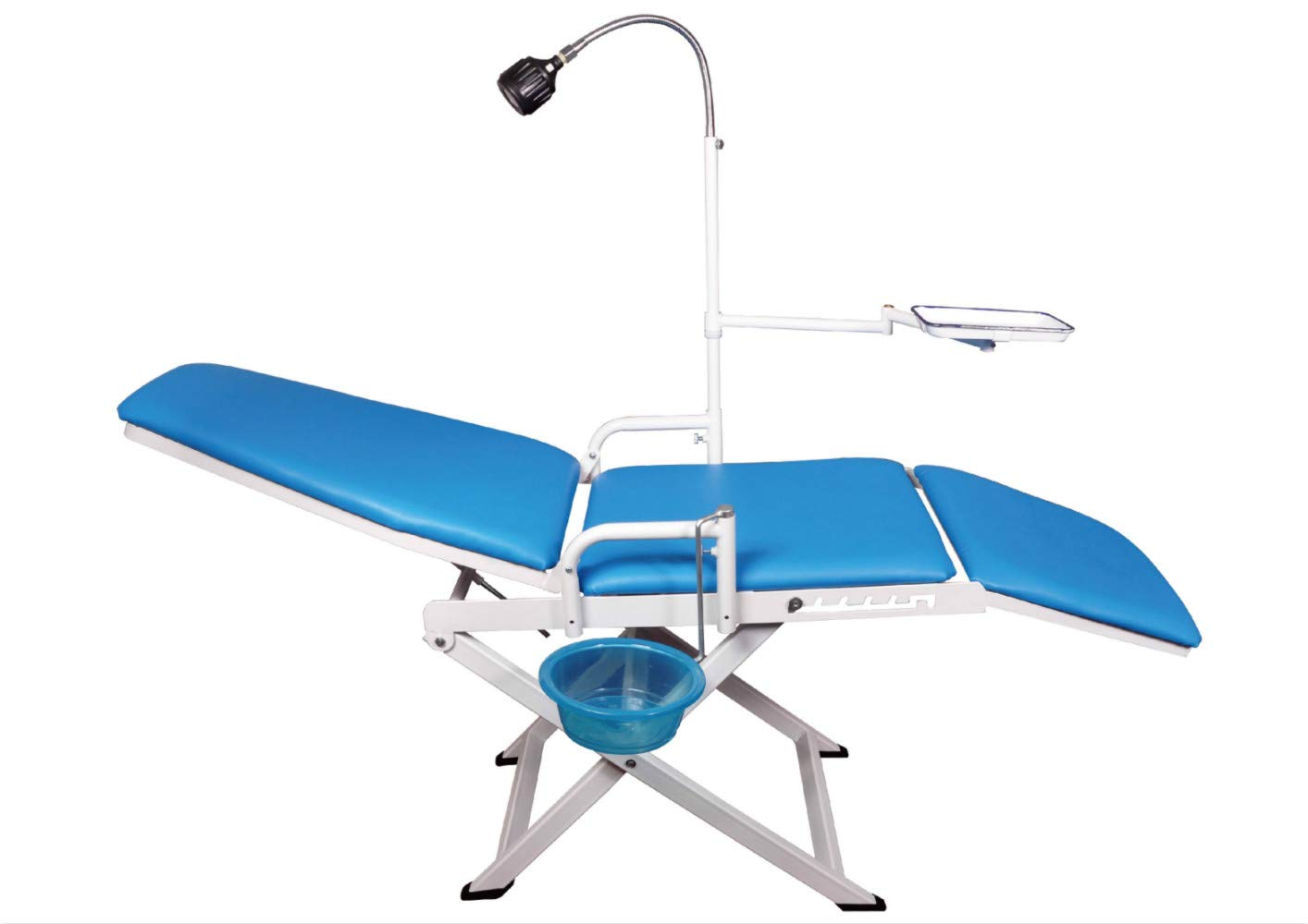 Dental Medical Portable Mobile Chair with LED Cold Light Full Folding Chairs