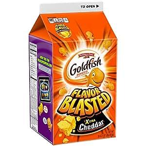Pepperidge Farm Goldfish Crackers, Xtra Cheddar Flavor Blasted, 30 Oz Carton