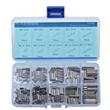 Stainless Steel M2 M2.5 Slotted Spring Pin Assortment kit,Split Spring Dowel Tension Roll Pins