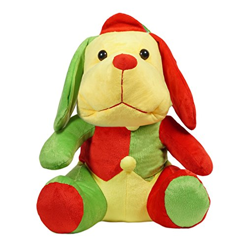 Ultra Cute Droopy Dog Plush Stuffed Soft Toy, Red and Green  13 inch