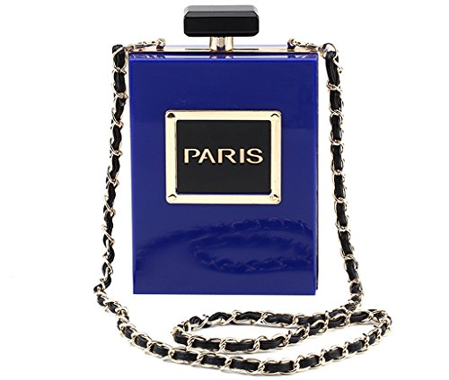 Paris Colors Blue Bag Bag Shaped Choice Purse Of Purse Many Small Crossbody Shoulder Women Evening Clutch Perfume qIxnUSOUaw