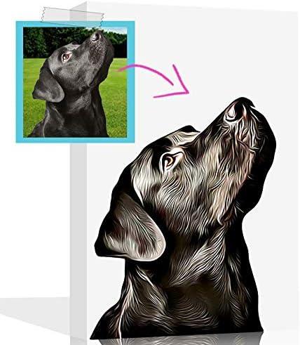 Amazon Com Custom Dog Painting Gift For Dog Lovers Dog Memorial Gifts Custom Pet And Dog Portraits Gift For Dog Moms Custom Dog Canvas Cream 12 X 18 Posters Prints