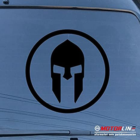 Spartan Mask Sparta Decal Sticker Car Vinyl pick size color Molon Labe roundel