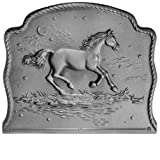 21.5'' x 18'' Night Horse Fireback