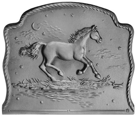 21.5'' x 18'' Night Horse Fireback by Pennsylvania Firebacks
