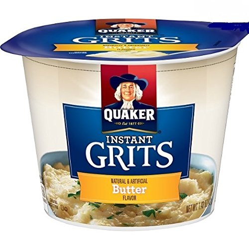 Quaker Instant Grits, Butter Flavor, Hot Breakfast Cereal (Pack of 6 Cups) by Quaker
