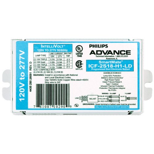 Advance ICF 2S18 H1 LD 120 277 Volt
