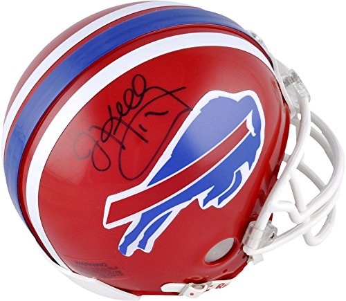 Buffalo Bills Autographed Helmets (Jim Kelly Buffalo Bills Autographed Mini Helmet - Fanatics Authentic Certified - Autographed NFL Mini Helmets)