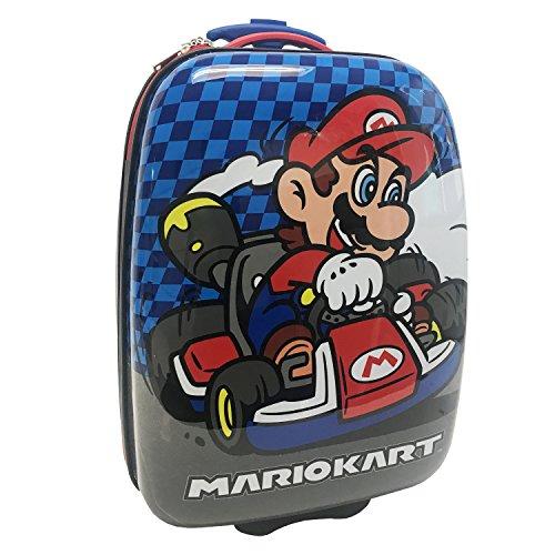 Price comparison product image Nintendo Boys' Mario Kart Hard Shell Luggage,  Blue