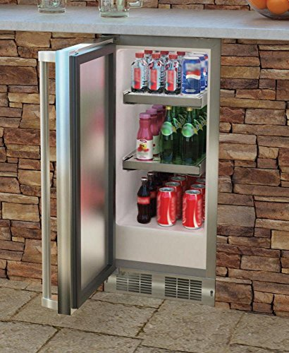 AGA Marvel MO15RAS2LS Outdoor Refrigerator with Lock, Left Hinge Stainless Steel Door, 15-Inch by AGA Marvel