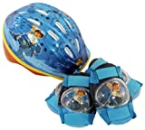 Diego Micro Bicycle Helmet and Protective Pad Value Pack (Child, Colors and Graphics May Vary)