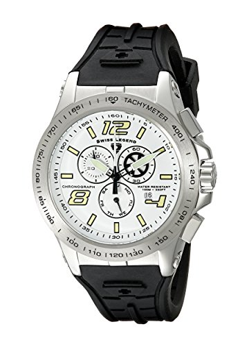 Swiss Legend Men's 10040-02S Sprint Racer Chronograph White Dial Watch