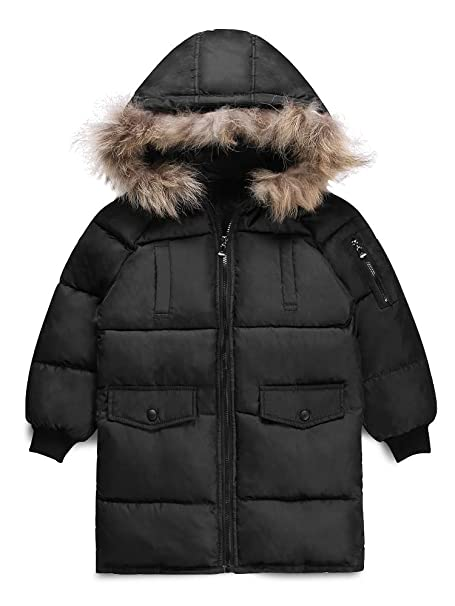 Boy/'s Classic Retro Parka Coat Hooded Quilted Parka Jacket Smart Coat Ages 5 6 7