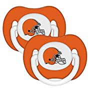 Baby Fanatic NFL Cleveland Browns Baby Fanatic 2-Pack Pacifiers (Discontinued by Manufacturer)