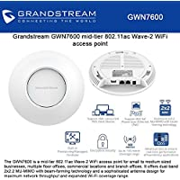Grandstream GWN7600 Mid-Tier Wi-Fi Access Point 802.11ac Wave 2 with Beam-Forming Technology
