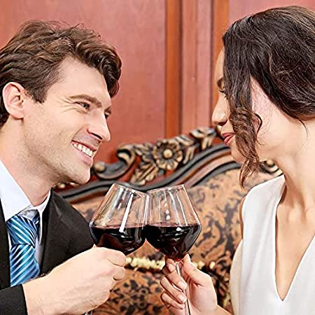 Krrinnhy Copas para Vino Blanco Exquisit 570 Ml Juego De 2 Aptas para Lavavajillas: Unas Distinguidas Copas para Vino Estables Y Resistentes