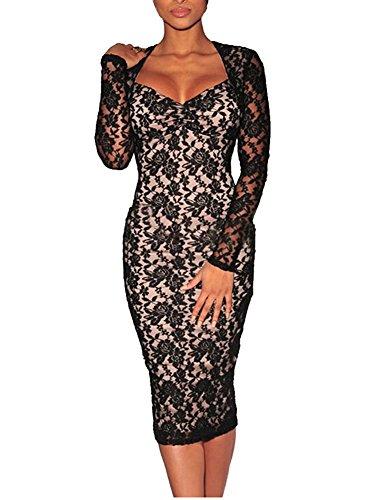 Buy black sheer bridesmaid dresses - 4