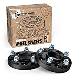 """2pc 20mm (3/4"""") Hubcentric 5x114.3 Wheel Spacers (64.1 bore, 12x1.5 Studs) for Acura Honda ILX RL RSX TLX TSX Integra Type R TL Accord Civic Element S2000 CRZ CR-Z Black"""