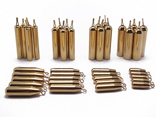 - CATCHSIF 41pcs Brass Pencil Drop Shot Fishing Weights