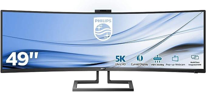 Philips 499P9H/00 - Monitor Curvo de 49