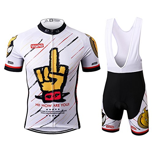 Thriller Rider Sports® Mens Funny Outdoor Sports Mountain Bike Short Sleeve Cycling Jersey