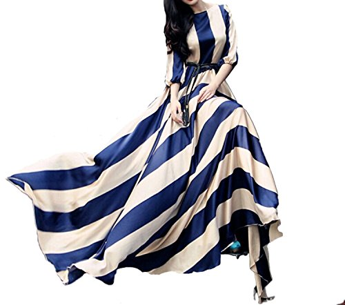 eshion Sleeve Stripe Pleated Bohemian