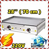 28 '' ( 70 cm ) Commercial Kitchen Equipment Electric Countertop Flat Top Restaurant Grill Stove Cooktop Manual Griddle 220V