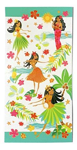 Hawaiian Island Heritage Cotton Beach Towel (Island Hula Honeys) (Island Hula Honeys)