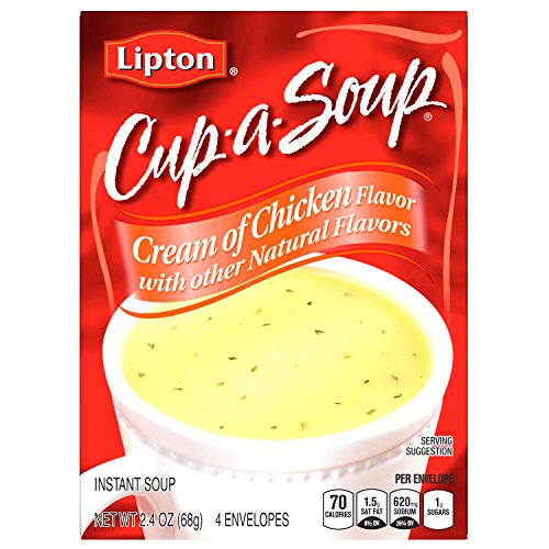 Lipton Instant Soup Mix, Cream of Chicken, 2.4 oz (Pack of (Cream Chicken Noodle Soup)