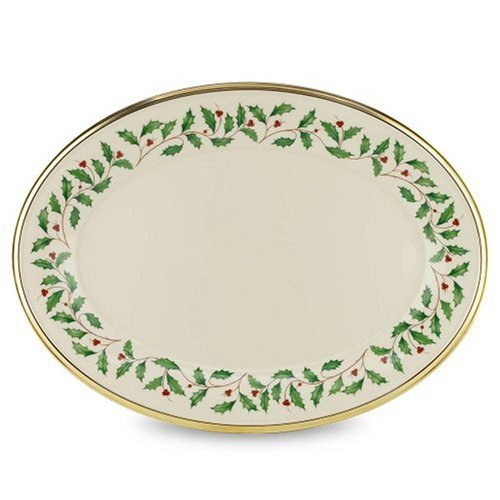 Lenox Holiday 16'' Oval Platter by Lenox