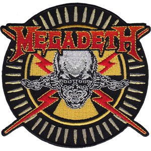 Megadeth - Skull & Bullets - Iron on or Sew on Embroidere...
