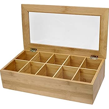 Estilo Bamboo Tea Storage Box 10 Equally Divided Compartments  sc 1 st  Amazon.com : funky storage boxes - Aboutintivar.Com