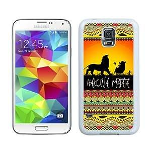 Unique Samsung Galaxy S5 I9600 Case ,Popular And Durable Designed With hakuna matata 1 White Samsung Galaxy S5 I9600 Cover