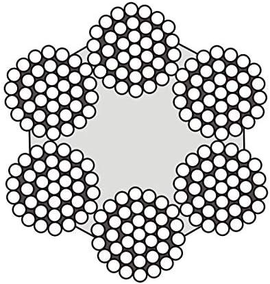 25m c/âble 16mm acier zingu/é EN12385-4 6x37+FC