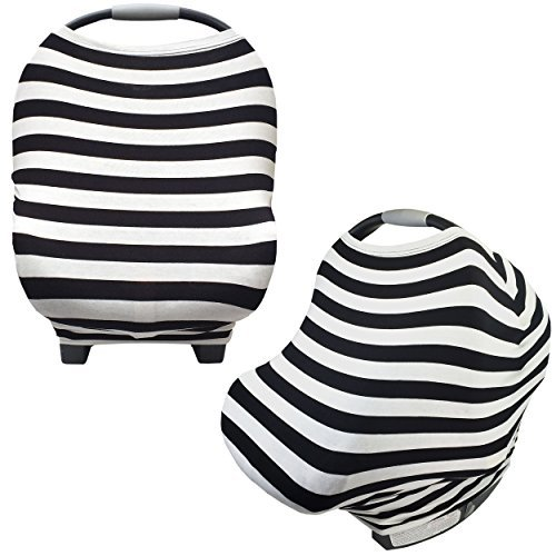 (Nursing Breastfeeding Cover and Baby Car Seat Cover Canopy Multi-Use 5 in 1