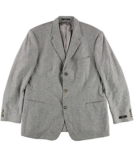Hugo Boss Mens Windowpane Two Button Blazer Jacket Grey ()